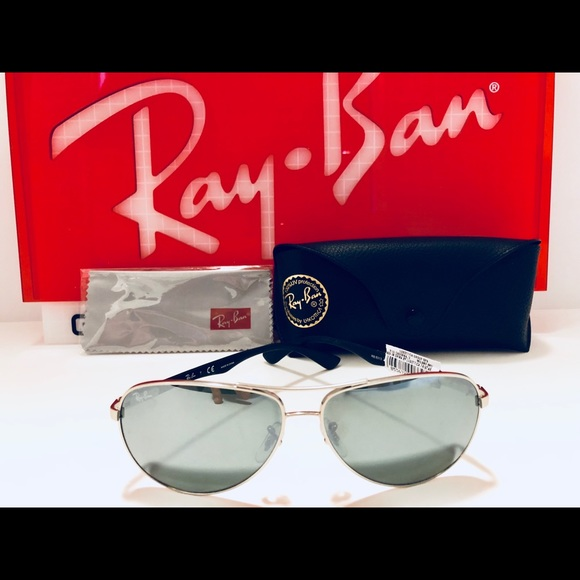 aed7050d01 Ray-Ban Aviator Sunglasses Silver Grey Mirror 61mm